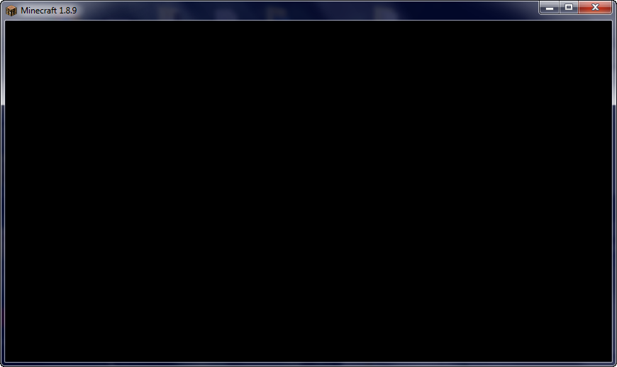 1 8 9 Black Screen on menu only in forge mode  (FIXED